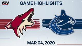 NHL Highlights   Coyotes vs Canucks - Mar. 04, 2020