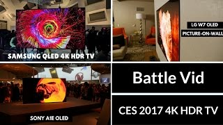 samsung qled vs lg w7 oled vs sony a1e oled which is better