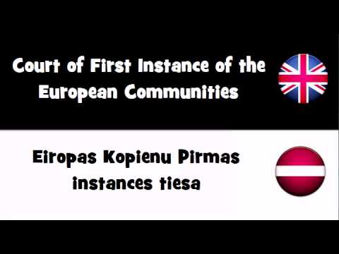 VOCABULARY IN 20 LANGUAGES = Court of First Instance of the European Communities