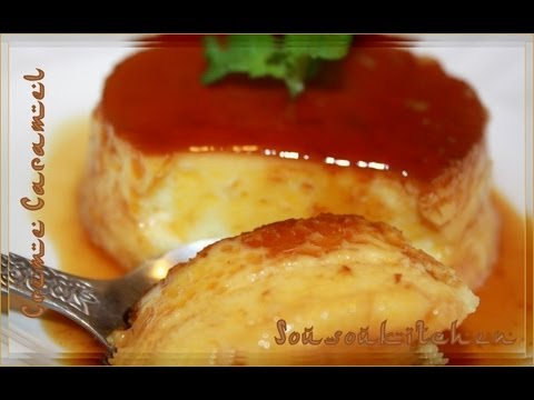 recette de cr me caramel flan sousoukitchen youtube. Black Bedroom Furniture Sets. Home Design Ideas
