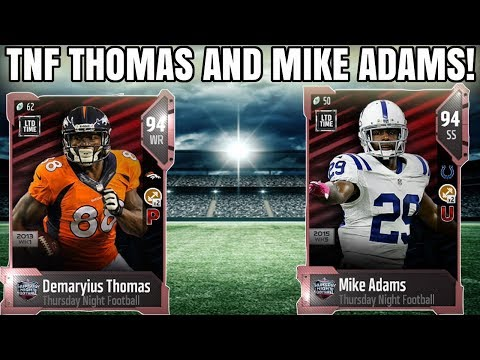 LTD TNF DEMARYIUS THOMAS AND MIKE ADAMS! MARKET CRASH AND ZERO CHILL! | MADDEN 18 ULTIMATE TEAM
