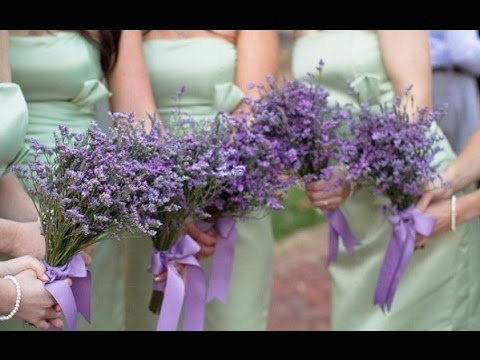 Lavender And Rosemary Wedding Bouquet - YouTube