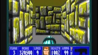 Wolfenstein 3D (100%) Walkthrough (E2M3)
