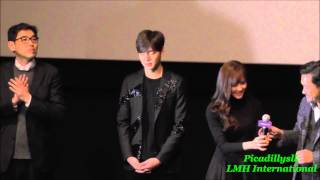 "Lee Min Ho ""Gangnam 1970"" movie stage greeting at Coex 20150120"