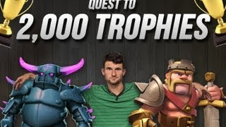 Clash of Clans Quest to 2,000 Trophies Crystal League
