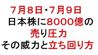 7月8日・7月9日 日本株に8000億の売り圧力!威力と立ち回り方【緋水の株ちゃんねる】