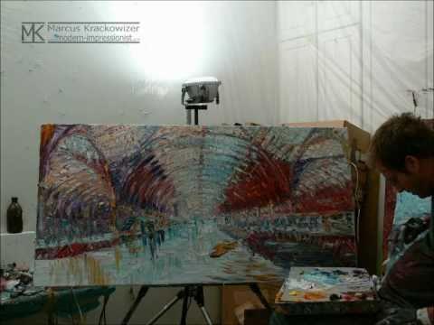 Time Lapse Oil Painting Demonstration: London Paddington Train Station by Marcus Krackowizer