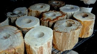 Natural Stone Tealight Holders