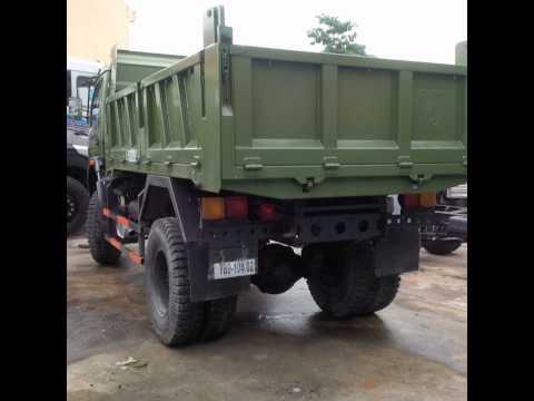 Hình ảnh xe ben dongfeng 3,45 tấn 2 cầu trường giang, ben trường giang 3t45