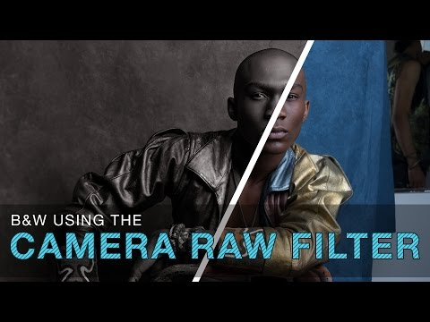 Photoshop - How to Create a Black and White Photo Using the Camera Raw Filter