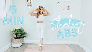 5 Minute Standing Abs Workout | Belly Fat Burner!