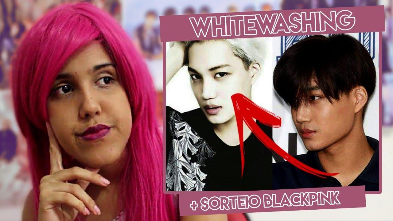 Whitewashing Em K Idols E Sorteio Blackpink Risa Akiyama Youtube