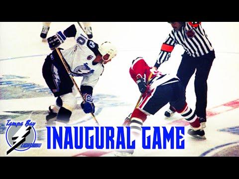 Tampa Bay Lightning inaugural game 1992 vs Chicago Blackhawks (Full Game)