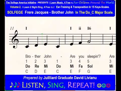 Solfege Frere Jacques Brother John In The Doc Major Scale Sight