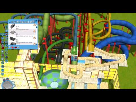 Building an indoor water park in RCT3 by ThorRides & Gaming