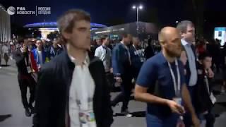 Фанаты покидают матч Хорватия - Англия