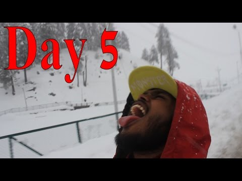 KASHMIR TRAVEL VIDEO DIARY (Part 5) -  North India Vs. South India, Snow, Kashmiri Food, Snoring