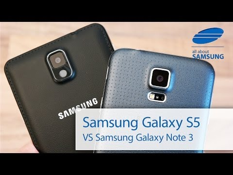 Samsung Galaxy S5 vs Galaxy Note 3 Vergleich deutsch HD