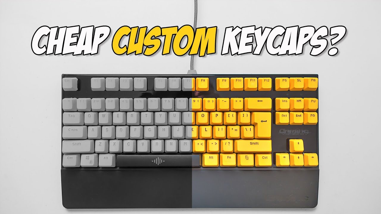 Cheap DoubleShot PBT Custom Keycaps Review