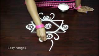 simple free hand rangoli designs with side borders || easy muggulu designs || kolam designs