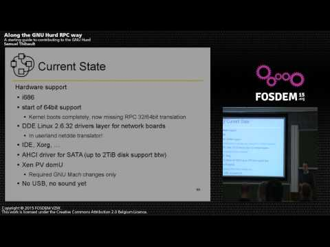 FOSDEM 2015 - Along the GNU Hurd RPC Way