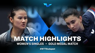 Yang Xiaoxin vs Elizabet Abraanian | WTT Contender Budapest 2021 (Final)