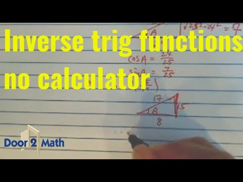 how to solve inverse trig functions without a calculator
