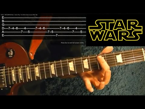 STAR WARS: The Force Awakens ( Han and Leia's Theme ) Guitar Lesson  ♫ ♪ ♫ ♪