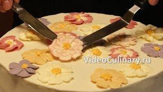 Цветы из крема   рецепт Бабушки Эммы
