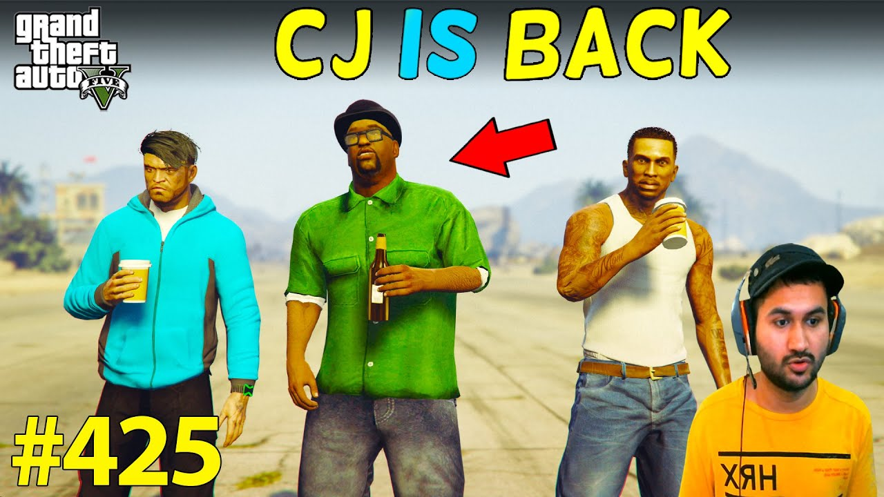 CJ IS BACK IN ACTION FOR GANG WAR GTA 5 | GTA5 GAMEPLAY #425