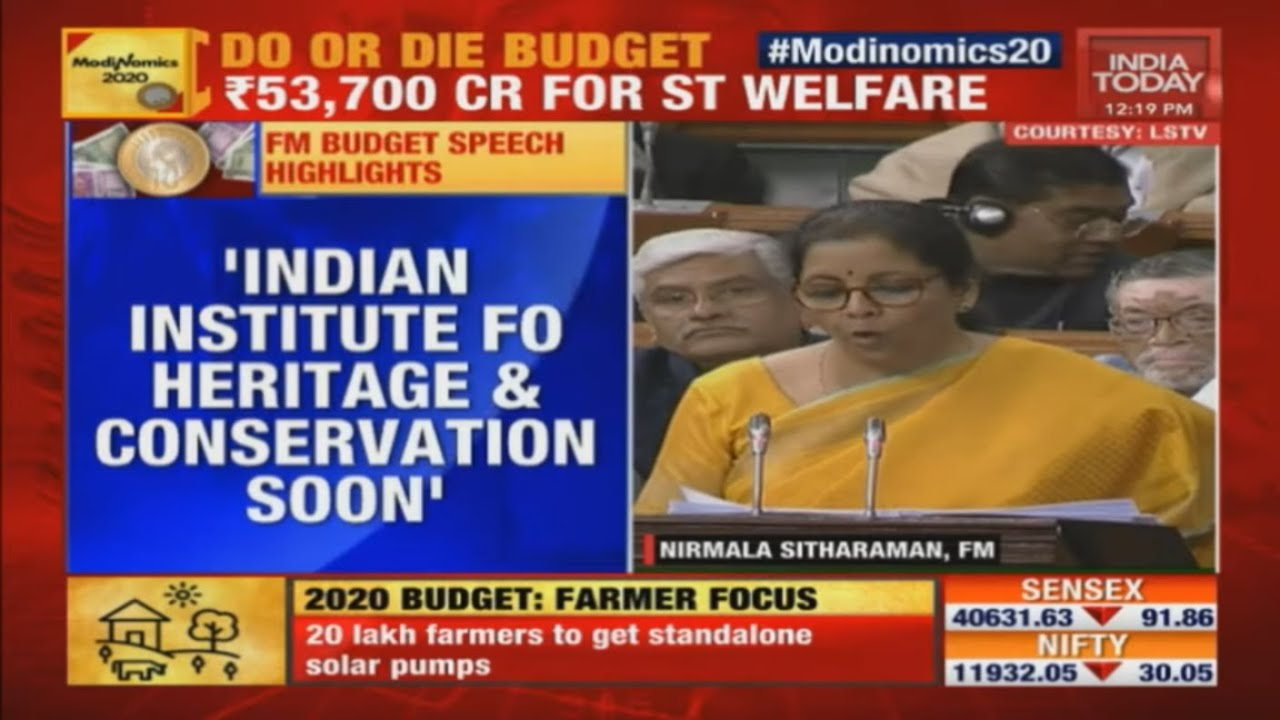 Budget 2020 | Govt To Set Up Indian Institute Of Heritage And Conservation: FM Sitharaman