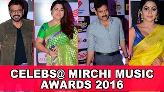 celebrities of south indian film at the mirchi music awards 2016    pawan kalyan kushboo venkatesh