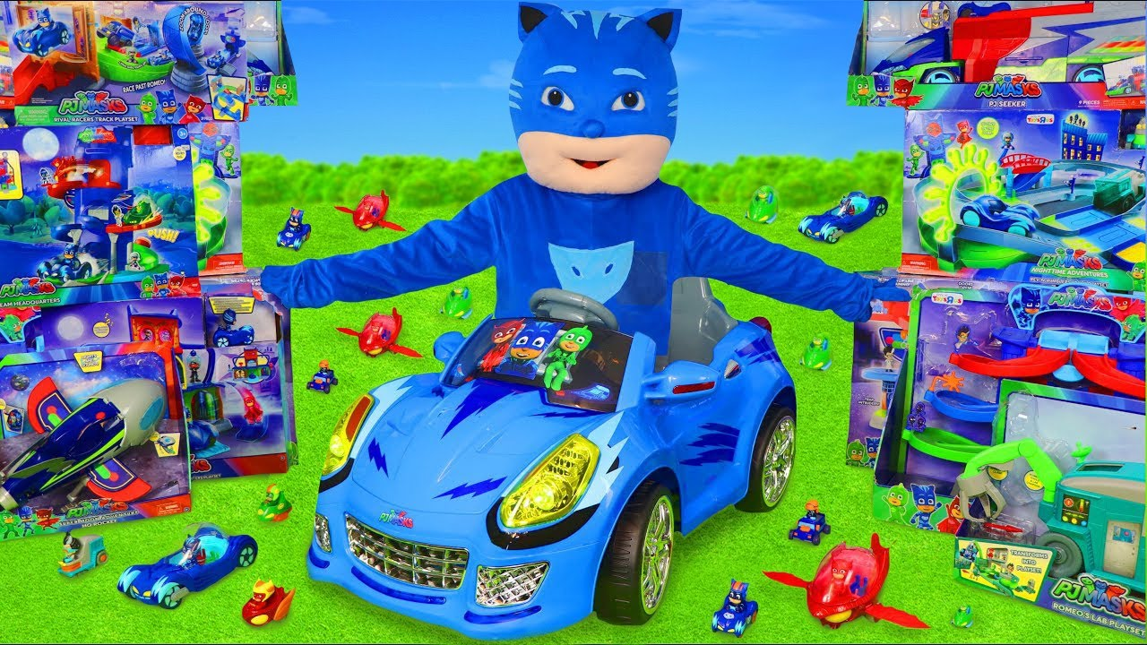 Pyjamasque jouets - Yoyo, Gluglu, Bibou, Echelle - Véhicules jouets pour enfants - PJ Masks Toys