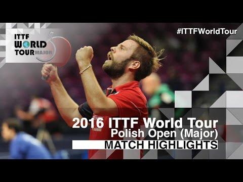 2016 Polish Open Highlights: Jon Persson vs Bai He (R2)