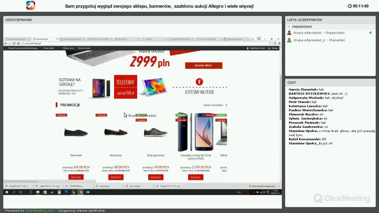 Kurs Tworzenia Wygladu Sklepu Sellingo Szablonu Aukcji Allegro I Grafik Reklamowych Youtube