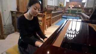 Meng Yang pan piano recital, Fressingfield music festival 2014.