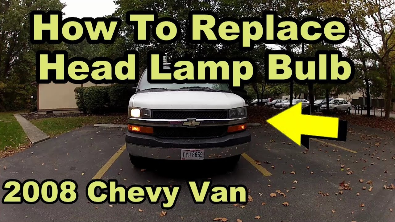 howto replace headlight 2008 chevy express diy [ 1280 x 720 Pixel ]