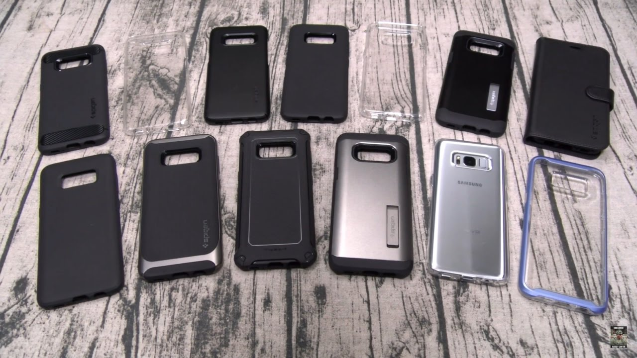 Samsung Galaxy S8 Spigen Case Lineup Youtube Thin Fit Black