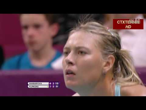 Maria Sharapova VS Kirsten Flipkens Highlight 2014