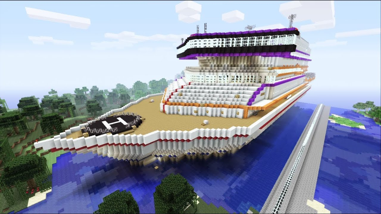 Minecraft Xbox Luxory Cruise Ship Prestige Sur La Mer