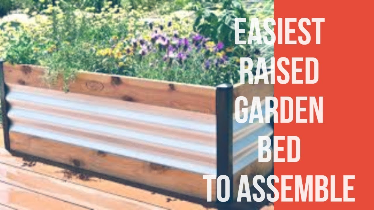 Raised Garden Bed Bunnings By Colorbond Youtube