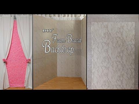 DIY Foam Backdrop / Dollar Tree DIY Backdrop /  Party Decor