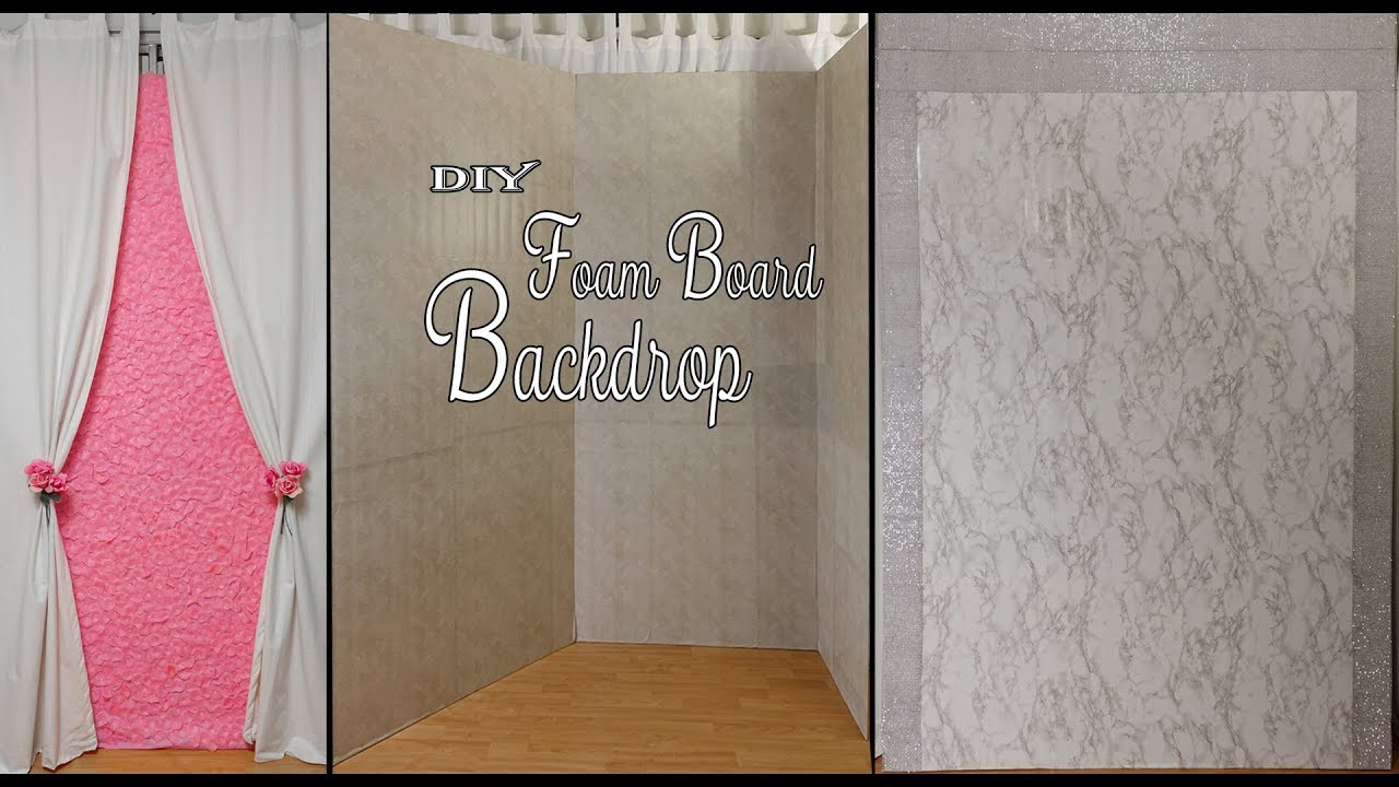 DIY Foam Backdrop / Dollar Tree DIY Backdrop / Party Decor