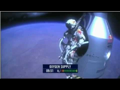 Felix Baumhartner skok z kosmosu.FLV