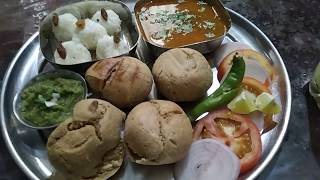 Tasty soft and easy baati daal ke saath | Indian Thali