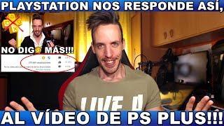 ¡¡¡PS NOS RESPONDE AL VÍDEO DE PS PLUS!!!