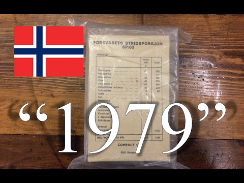 "Norway ""1979"" 24 Hour Ration Forsvarets Stridsporsjon SP/63 ""Only Review on YouTube!"""