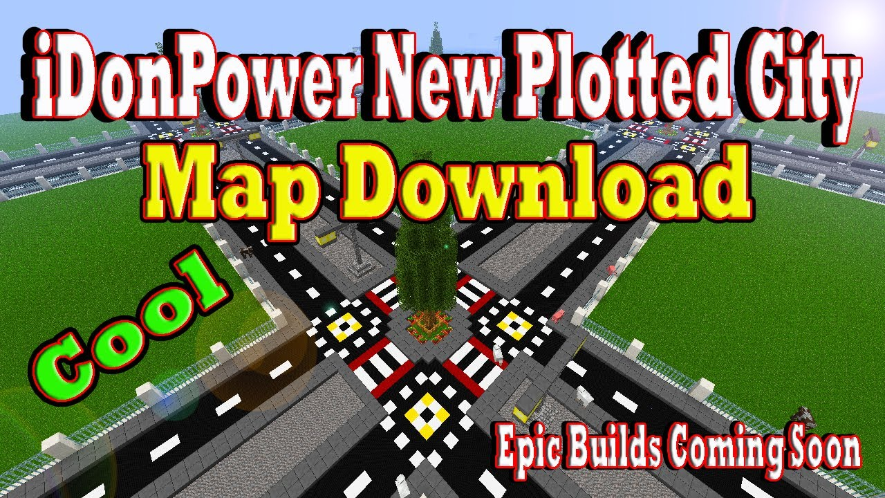 Minecraft idonpower plotted city map download youtube gumiabroncs Gallery