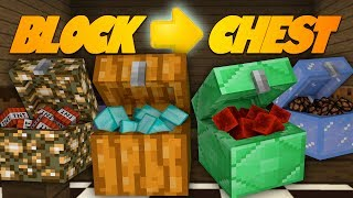 Minecraft Redstone TURN ANY BLOCK INTO A SECRET CHEST! Minecraft 1.8 Update