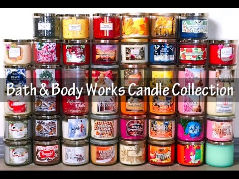 Bath & Body Works 3-Wick Candle Collection 2016
